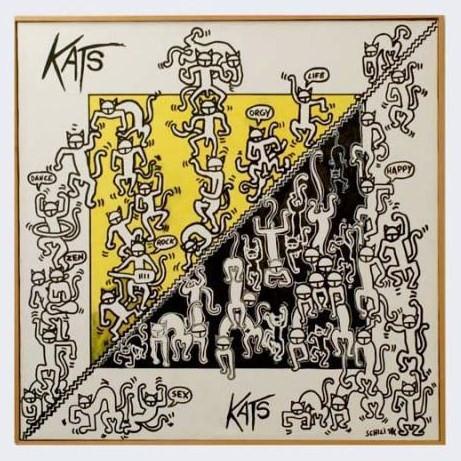 1998 - Kats fantasy - acrilico su tela  cm 70 x 70 - - -not available