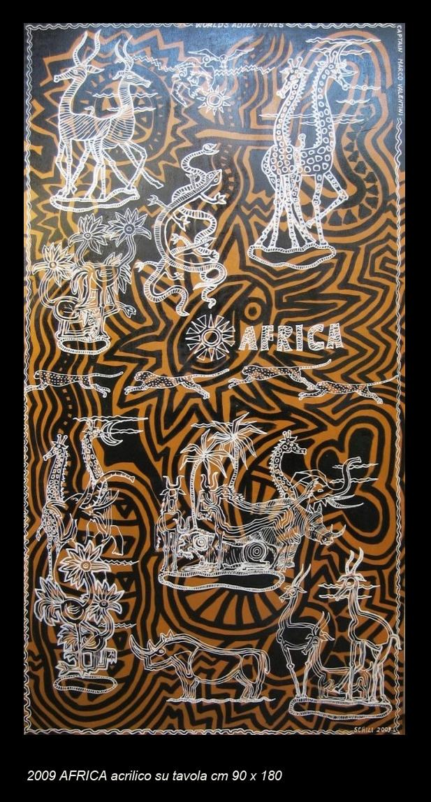 2009  AFRICA  acrilico su tavola cm 90 x 180........not available