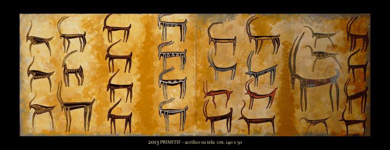 2013 PRIMITIF  acrilico su tela cm 140 x 50.......................euro 1200