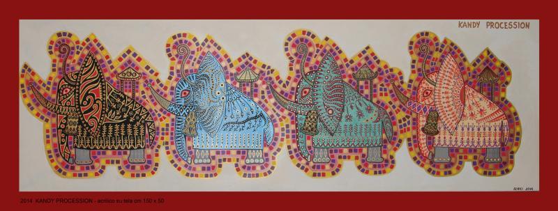 2014   KANDY  acrilico su tela cm 150 x 50............euro 1200