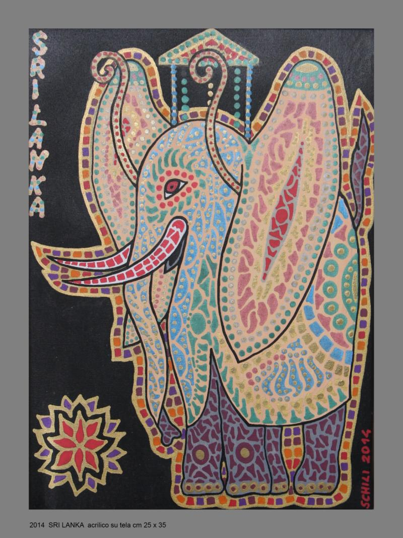 2014   SRI LANKA  acrilico su tela cm 25 x 35........not available