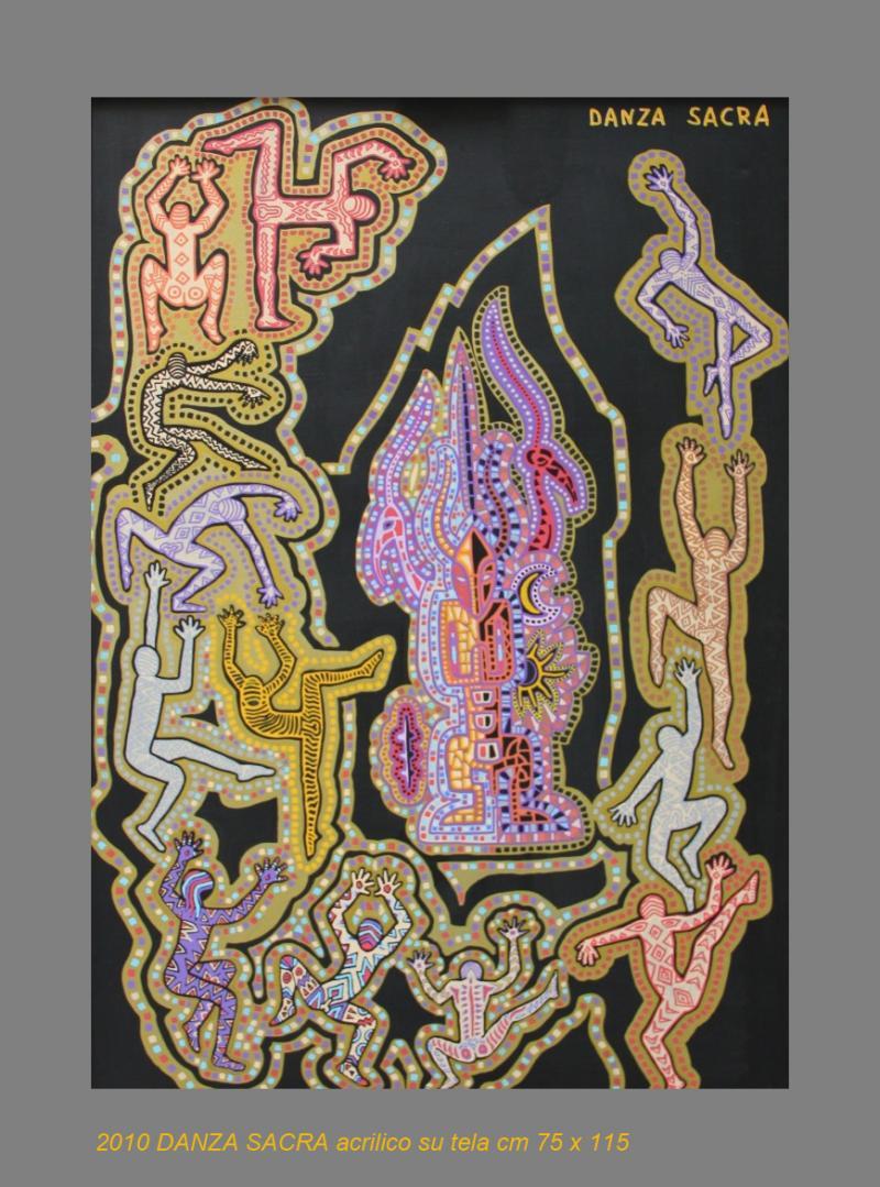 2010  DANZA SACRA  acrilico su tela cm 75 x 115............not available