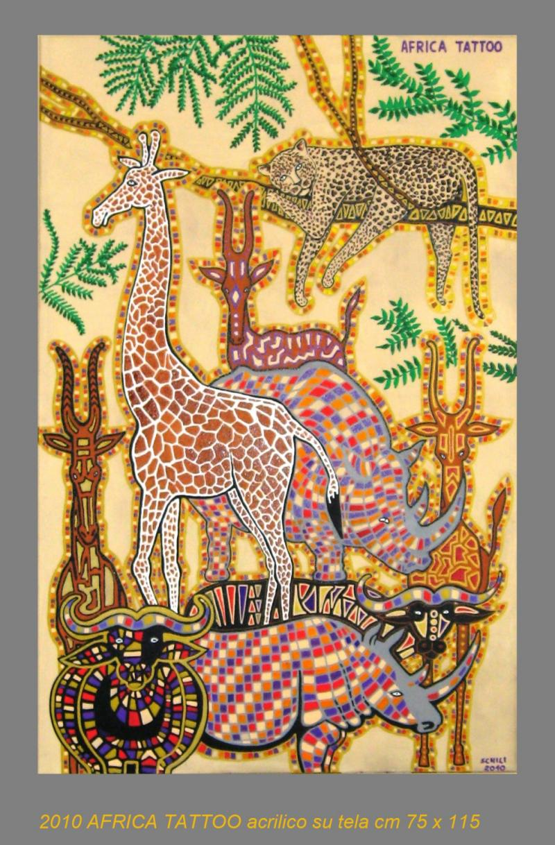 2010  AFRICA TATTOO  acrilico su tela cm 75 x 115 .......not available