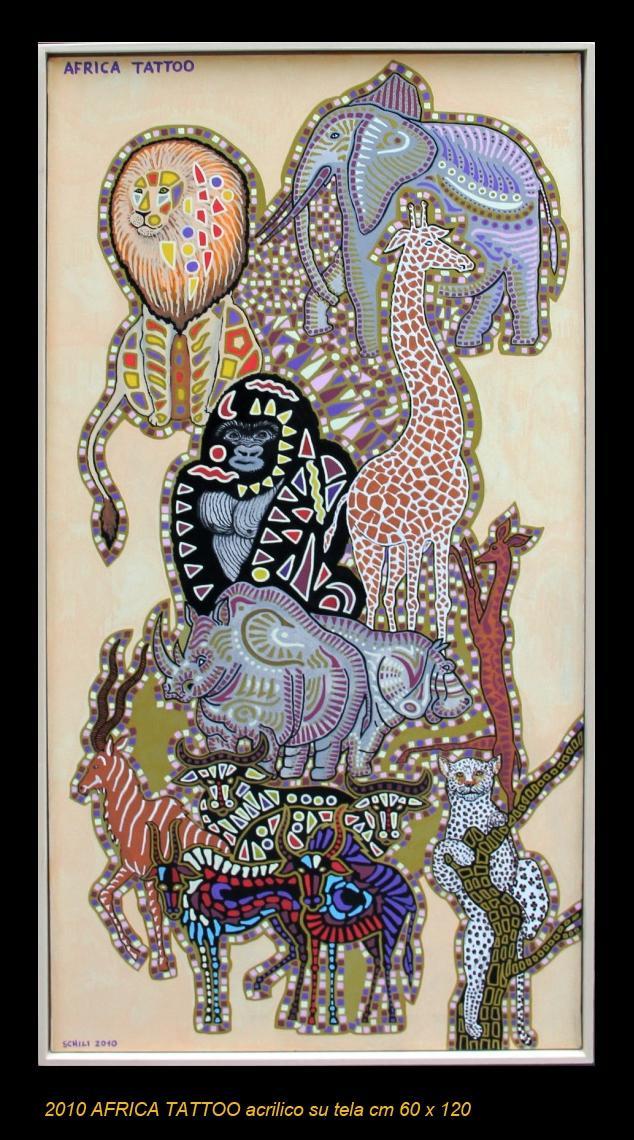 2010  AFRICA TATTOO  acrilico su tela cm 60 x 120 .......not available