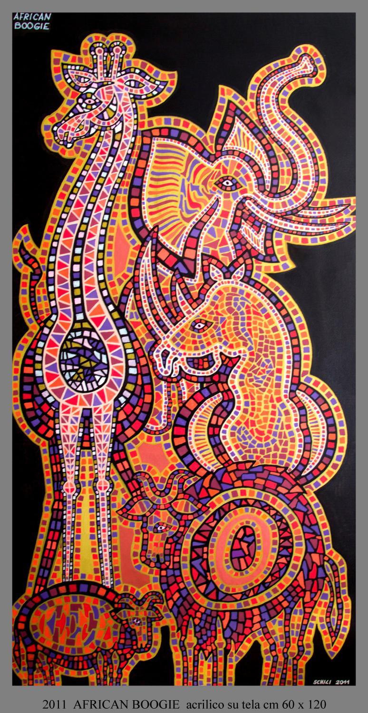 2011  AFRICAN BOOGIE  acrilico su tela cm 60 x 120................not available