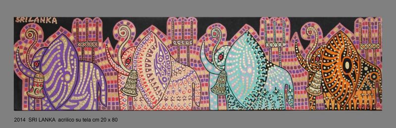 2014   SRI LANKA  acrilico su tela cm 20 x 80..........not available