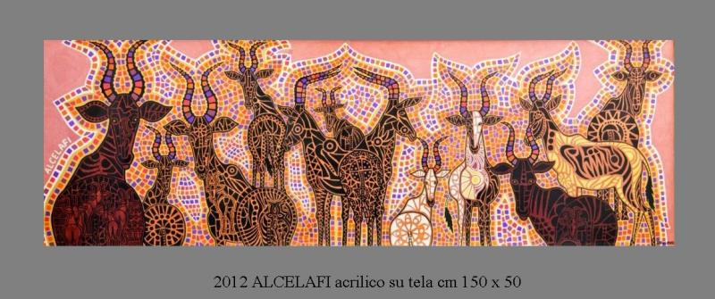 2012  ALCELAFI  acrilico su tela cm 150 x 50.........not available