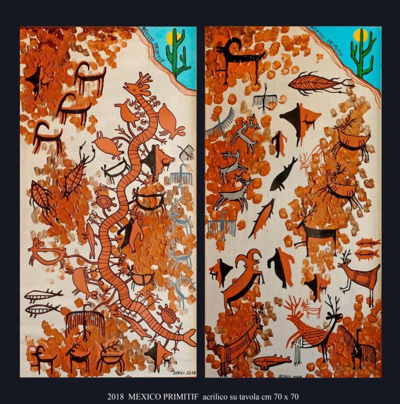 2018 MEXICO PRIMITIF  acrilico su tavola cm 70 x 70.....................euro 600