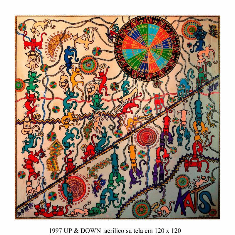 1997  UP & DOWN  acrilico su tela cm 120 x 120..................euro 2000