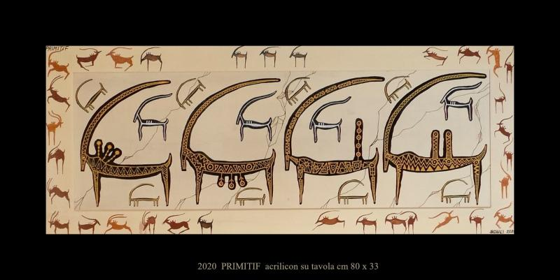 2020  PRIMITIF  acrilico su tavola cm 80 x 33........................euro 500
