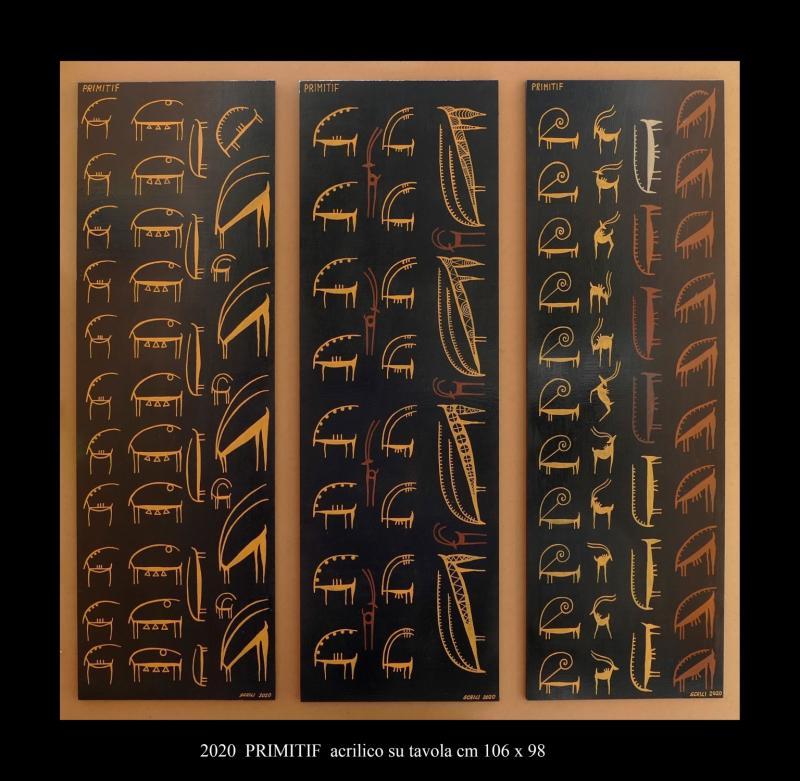 2020  PRIMITIF  acrilico su tavola cm 106 x 98........................euro 900