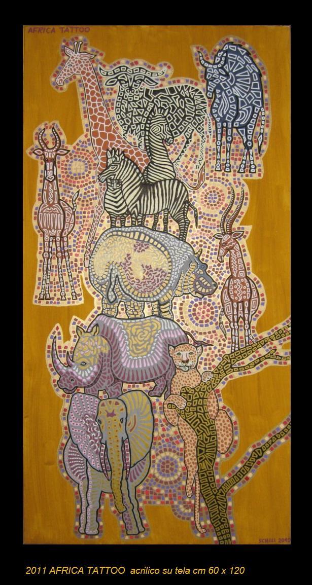 2011  AFRICA TATTOO  acrilico su tela cm 60 x 120 .......not available