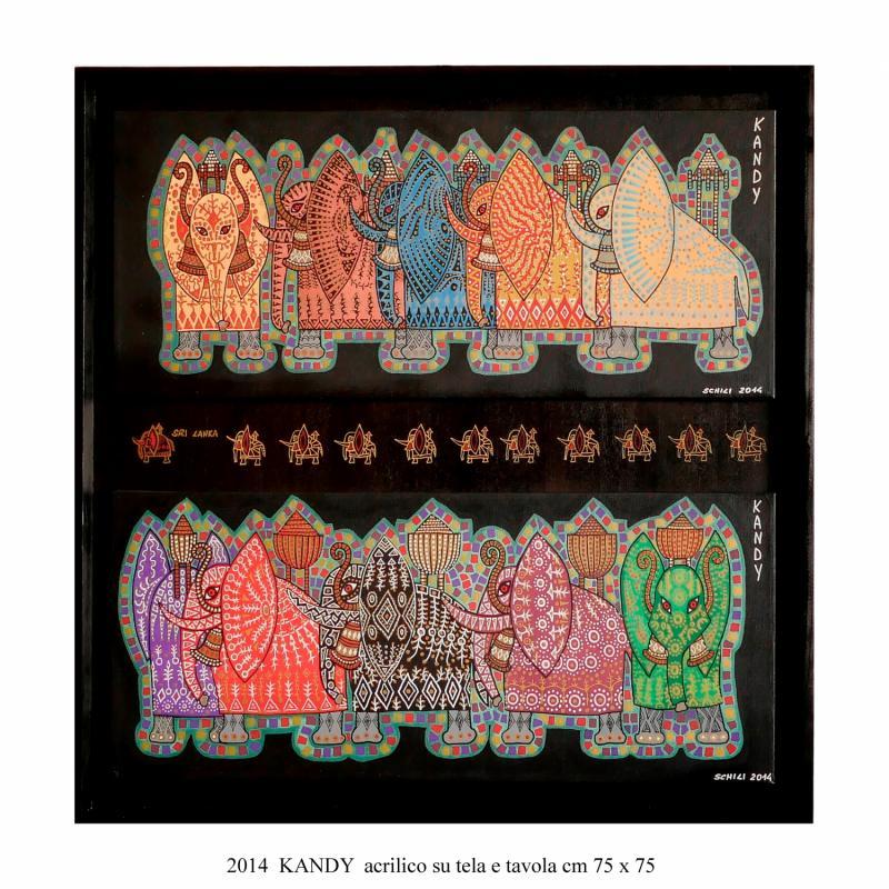 2014  KANDY acrilico su tela e legno cm 75 x 75..........euro 700