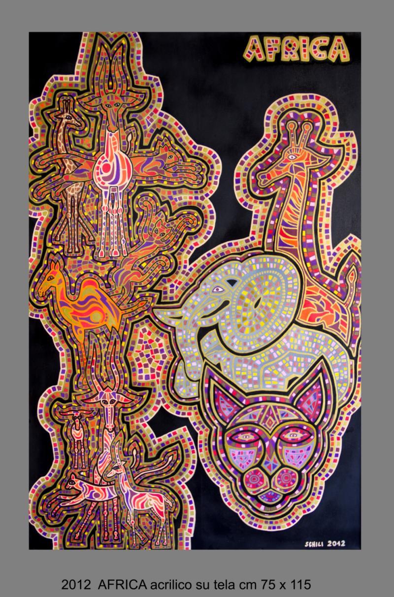 2012 AFRICA  acrilico su tela cm 75 x 115......................euro 1200