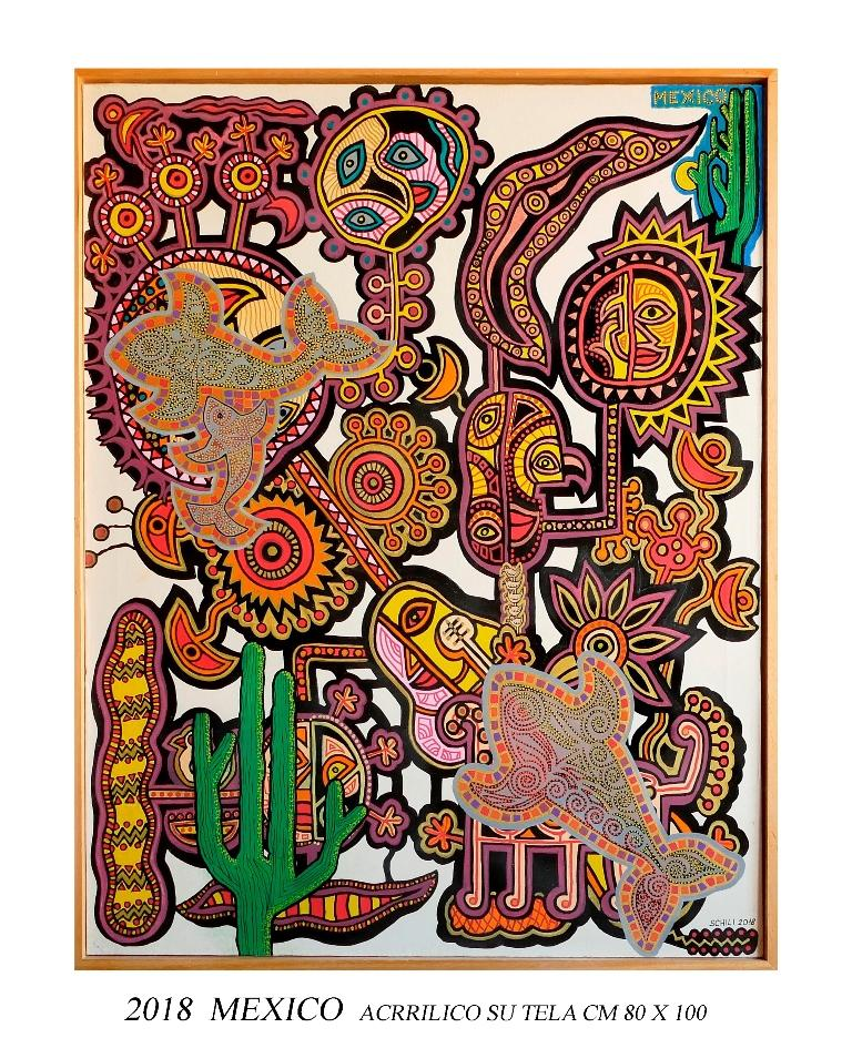 2018 MEXICO  acrilico su tela cm 80 x 100.....................euro 800