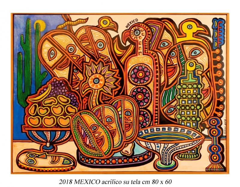2018 MEXICO  acrilico su tela cm 80 x 60......................euro 500