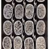 2014  TRIBAL MASKS acrilico su tela  cm 60 x 120 .............euro 800