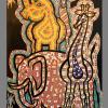 2011  AFRICAN FANTASY  acrilico su tela cm 70 x 120................euro 1500